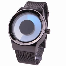 Wholesale Geneva Led - Creative Concept leather Wrist watches Swirl Design Mesh Brand Luxury Gifts for mens in 2017 Fashion Geneva Watch