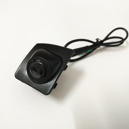 Wholesale Ccd Front View Car Camera - Free Shipping Car Front View Camera Logo Embeded Camera For Audi Q7 CCD HD Colour Waterproof wide angle