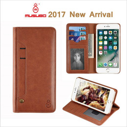 Wholesale Apples Pillows - models iPhone 7 plus mobile phone shell Apple 6S leather split from zipper multifunction purse Combo acc211