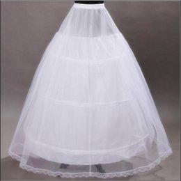 Wholesale Brides Underskirt - 2017 Brand New Petticoats White 3 Hoops Bone Full Underskirt for Bride Formal Dress Stock Wedding Accessories Ball Gown Skirt Crinoline