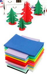 Wholesale Picture Crafts - DIY Polyester Felt Fabric Non-woven Sheet for Craft Work Kids DIY Christmas Craft 1mm Thick Mixed Color