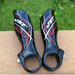 Bicicleta ergonómica on-line-VKT MTB Bicycle Carbon Bar Ends Handlebar Mountain bike Ergonomic bicycle parts