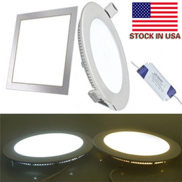 Wholesale Dimmable Drive - Dimmable 4W 6W 9W 12W 15W 18W 21W CREE Led Recessed Downlights Lamp Warm Natural Cool White Super-Thin Led Panel Lights + Drives