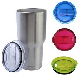 Wholesale Mugs Cover - Yeti Cup Lid Food Grade 20oz 30oz Splash Spill Proof Clear Mugs Cup Lids RTIC Tumbler Cup Replacement Resistant Proof Cover Lid