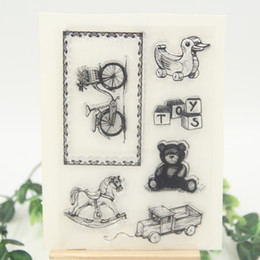 Wholesale Scrapbooking For Baby - Wholesale- Baby Toys Transparent Clear Silicone Stamp Seal for DIY scrapbooking photo album Decorative clear stamp sheets