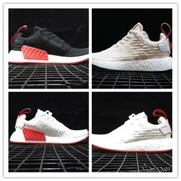 Wholesale Running Shoes Picture - Real picture black NMD CS2 PK Boost R2 Authentic Running Sneakers Fashion Running Shoes NMD R2 PrimeKnit Real Boost Sneakers 2018 size 36-45
