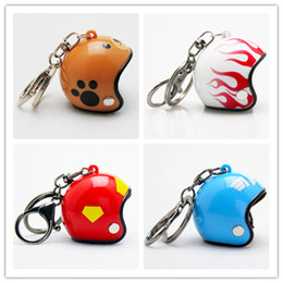 Wholesale Motorcycle Racing Keychain - Hot Pocket 3D Racing Motorcycle Helmet Keychain Key Ring Gift Moto Accessories Collect Cool Sports Promotion Gift Keychain 26 designs BS-647
