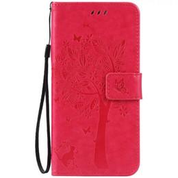 Pour Iphone X XS MAX XR 8 7 Plus 6 6S SE 5S 4G 4 4S IPod Touch 5 Strap Portefeuille Housse En Cuir Stand ID Card Argent Chat Arbre Papillon Couverture De Peau ? partir de fabricateur