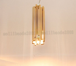 Wholesale Modern Hall Table - new pendant light brief decorative lighting bar table Golden lamps free shipping MYY