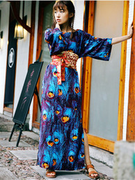 Wholesale Long Peacock Dress - Printing Peacock Country Wind Long Dress
