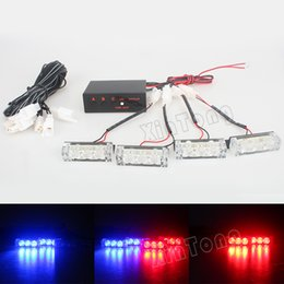 Wholesale Led Emergency Light Bar Truck - Blue   Red   Yellow White Car Truck LED Strobe Flash Warning Emergency Front Bumper Grille Driving Light Bar Police Firefighter
