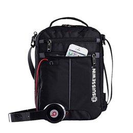 "Wholesale Document Handbag - Swiss Shoulder Bag Leisure Briefcase Small Messenger Bag for 9.7"" 11""Tablets and Documents Men's Black Handbag crossbody bag"