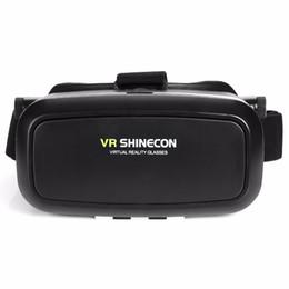 Iphone de los vidrios 3d de la cartulina online-Realidad Virtual VR Shinecon VR Gafas Real 3D Casco Cartón Móvil Película Cine 3D para iPhone Samsung 4.0 -6 pulgadas Smartphone