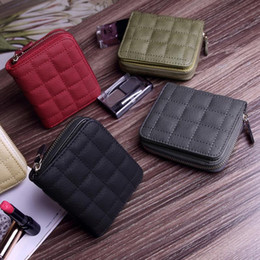 Wholesale Women Pocket Money - New Arrival Cute Zipper Embroidered Wallet Women Leather Wallet Short Slim Mini Money bag Coin Card Purses Holders Clip