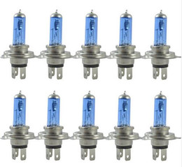 Wholesale Xenon Kit Cars - 10pcs lot new halogen h4 P43T type new warm white xenon car headlights bulbs halogen lamp kit 12V 60 55W