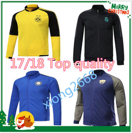 Wholesale America Jacket - 17 18 Club America Jacket Soccer Jersey Retro Football Shirts Equipment Long Sleeve Man tracksuits AC milan Real Madrid Ajax jacket Uniform