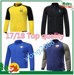 Wholesale Club Equipment - 17 18 Club America Jacket Soccer Jersey Retro Football Shirts Equipment Long Sleeve Man tracksuits AC milan Real Madrid Ajax jacket Uniform