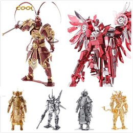 Wholesale Diy Assemble - 2016 New Arrival Piececool The Monkey King Sun Wukong 3D Laser Cutting Metal Model Puzzle Toys Kids DIY Assembled Jigsaw Gift