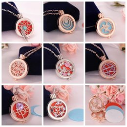 Wholesale Wholesale Perfume Oil China - Women Antique Silver Censer Aromatherapy Locket Essential Oil Diffuser Floating Hollow Locket Pendant Necklaces Perfume Locket Necklace