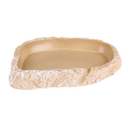 Wholesale Dishes Decor - Food Water Dish Bowl Feeder Terrarium Decor Lovely Pet Food Water Drink Dishes for Reptile Tortoise Snake Liza