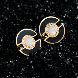 Wholesale Earrings Shells - New Arrival 316L Stainless Steel 10 style Stud Earrings 18K Gold Plated CZ Stone Shell Earrings For Women Gift