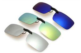 Wholesale Clip Sunglasses Mirror - (10pcs lot) fashion clip on sun glasses Polarized sunglasses clips women men mirror sunglasses UV400