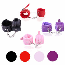 Wholesale Handcuff Bondage Games - 1Pair Sex Toys Marriage Sex SM Appliances Police Handcuffs Adult Games RPG Beauty And Beast Women bdsm Bondage Erotic Toys 3105005