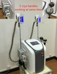 Wholesale Diode Laser Lipolysis - New !!! 4 in 1 multi functioni 2 handles could work togeth cryo lipolysis fat freeze machine diode lipo laser cavitation rf slimming machine