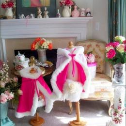 Wholesale Ivory Faux Fur Wrap Girl - Color assented warm winter flower girl cape coat fur mini wrap for little girl Flower Girl Children Outerwear & Coats