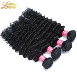 Wholesale Cheap 12 Inch Curly Hair - Cheap Peruvian Hair Bundles Peruvian Deep Curly Wave Human Hair 3 4 5 Bundle Extensions unprocessed Dyeable Peruvian Human hair Deep weave