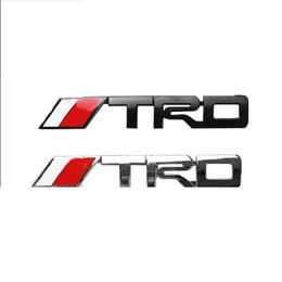 Wholesale Metal Sports Decals - (20 pieces  lot) Wholesale Car Styling 3d Metal TRD Sport Car Emblems Badge Decal On Car Stickers Bumper Sticker