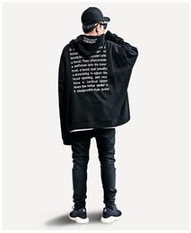 2019 extra lange sweatshirts Übergroße extra lange Hülsen-Mann-Sweatshirt-mit Kapuze lose faule Hoodies Hip-Hop-männliche Kleidung rabatt extra lange sweatshirts