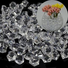 Enchimentos de vasos on-line-500 unidades / pacote, 14 * 11 MM do partido do favor do casamento acrílico cristal rocha gelo confete mesa Scatter vaso Filler Beads