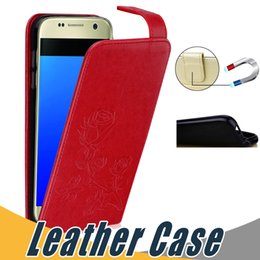 Wholesale S3 Mini Cover Black - Luxury PU Leather Case with Card Slot Soft TPU Flip Stand Case Cover For Samsung S3 S4 S5 Mini S6 Edge