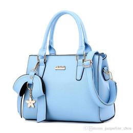 Wholesale Big Bowties - Summer new ladies handbags 7 colors fashion big bowties PU leather hand bags women messenger bag free shipping