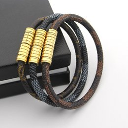 Wholesale Invisible Rope - New Arrival magnet Buckle Leather Bracelet For Women Men Fashion cuff love Bracelets & Bangles Pulseira Masculina jewelry wholesale