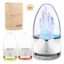 Wholesale F1 Mini - 2017 Hot selling F1 Mobile Mini Portable wireless Bluetooth Water Dancing Speaker LED Music Speaker Computer speaker