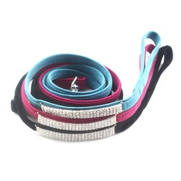 Wholesale Dog Collars Leashes Rhinestones - armipet Rhinestone Chain Decoration Pet Dog Lead Dogs Cat Collar Leashes 6043018 Pet Traction Accessories 120cm