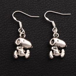 crochets de chien Promotion Running Dog boucles d'oreilles en argent 925 crochet d'oreille de poisson 40pairs / lot Antique Silver Dangle E182 11.7x33.8mm