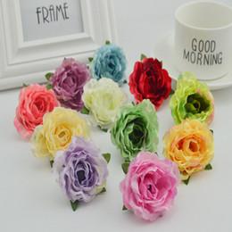 Wholesale Cheap Plastic Wall - 100pcs cheap artificial flowers wall for wedding home Decora bridal Wrist accessories diy Wreaths fake plastic flower silk roses