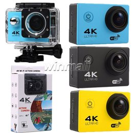 Wholesale Wide Angle Mini Cam - F60 Wifi Action Camera 4K 30fps 2 inch LCD Extreme Mini Diving Cam Waterproof Sport Camera 170 Degree Wide Angle