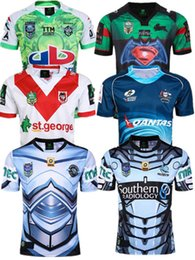 Wholesale Australia Free - Best Thai quality New 2016 Cronulla Sharks rugby jerseys Zealand 2016 2017 men best Australia league rugby shirts SIZE S-2XL free shipping