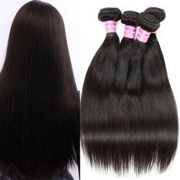 Wholesale 24 Piece Hair Weave - Brazilian Straight Virgin Hair Bundles Malaysian Human Hair Weaves 100% UNPROCESSED Natural Color Peruvian Indian Cambodian Mongolian Hair