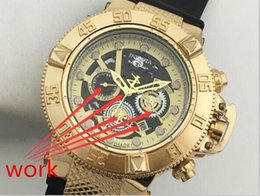 Wholesale Luxury Watches Silicone - New arrival Swiss brand INVICTA LOGO rotating dial outdoor sports men watch Luxury brand Silicone quartz watch All the functions work