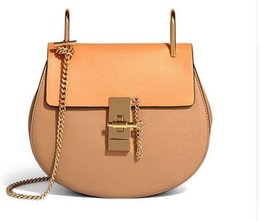 Wholesale Interior Design Pink - 2017 Hot Sale Popular Fashion Brand Design Women Genuine Leather Cloe Bag High Quality Real Cowskin Shoulder Bag Small Chain Bag
