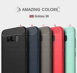 Wholesale Oppo Cases - Brush Carbon Fiber TPU PC Case For Samsung Galaxy S8 Plus 2017 J5 J7 LG G6 Huawei P10 Plus MOTO G5 OPPO A59 Armor ShockProof Cover 100pcs