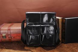 Wholesale Briefcase Vintage - Genuine Oil Wax Leather Men Bags For Fashion Handbags Shoulder Vintage Retro Men Messenger Bags Briefcase