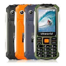 Wholesale Mobile Phones Double Sim Cards - VKworld VK V3S 2.4inch 2200mah Dual Sim Card Double LED Lights Waterproof Shockproof Anti-dust mobile Phone
