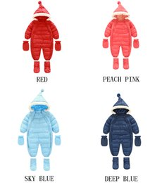 Wholesale Hot Hoody Wholesale - Hot Sell Baby Boys Girl Warm Long Sleeve Cotton Convenient Zipper Rompers Winter baby infant Siamese toddler romper jacket hoody