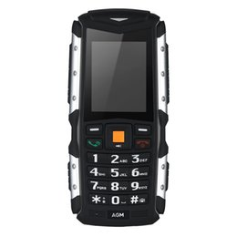"""Wholesale Proof Cellphone - Original AGM M1 IP68 Waterproof Shockproof Phone FM Loud Speaker 2570mAh Long Standby Cellphone 3G 2.0"""" 128MB+64MB 2MP with LED Mobile Phone"""